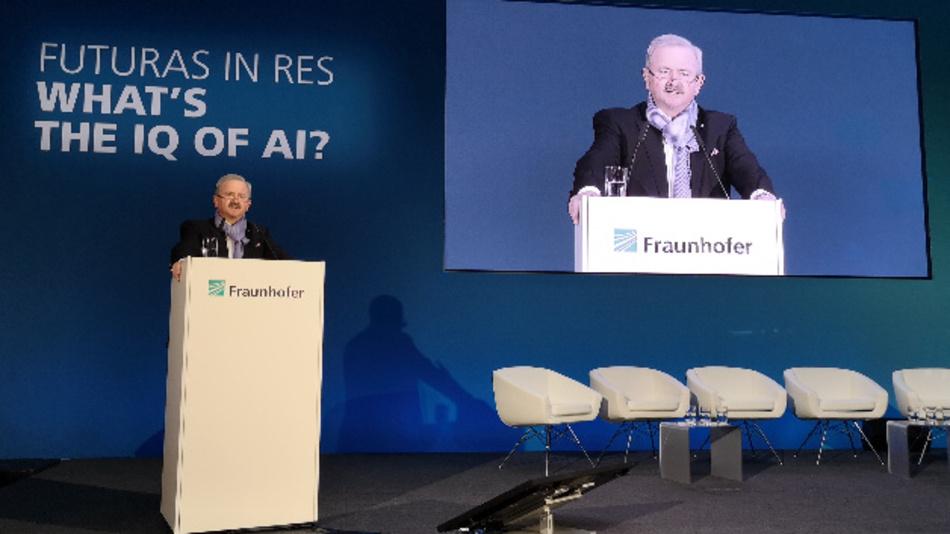 Prof. Dr. Reimund Neugebauer, Präsident der Fraunhofer-Gesellschaft: »Künstliche Intelligenz ist einer der weltweit wichtigsten Forschungszweige und bietet enormen Raum für disruptive Innovationen«.