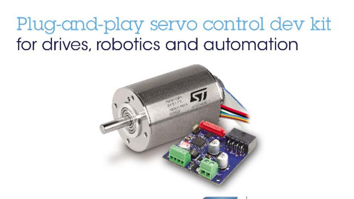 STMicroelectronics und maxon haben gemeinsam ein Servo-Control-Kit für Robotik und Automatisierung entwickelt.