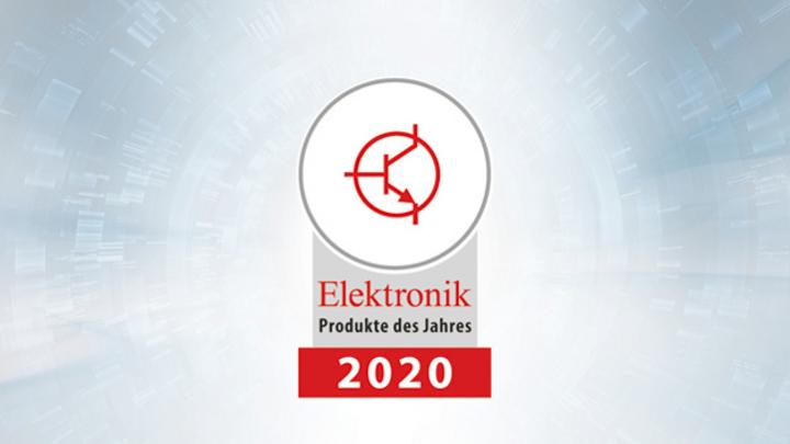 Logo Produkte des Jahres 2020 Kategorie »Halbleiter und IP«.