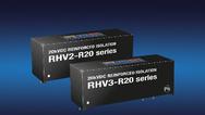 DC/DC-Wandler der RHV2- und RHV3-Serie mit ultrahoher Isolation und Einzel- und Doppelausgängen