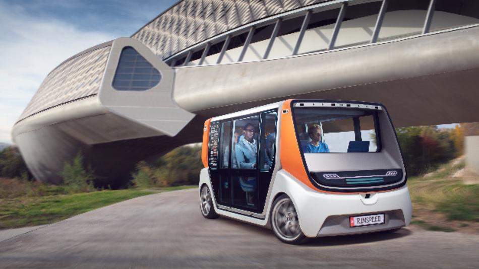 Im Konzept-Car MetroSnap von RinSpeed kommt sichtbares und unsichtbares Licht von Osram zum Einsatz.