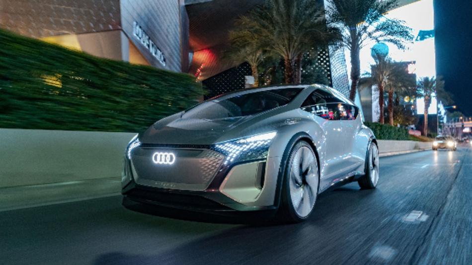 Das autonom fahrende Visionsfahrzeug Audi AI:ME.