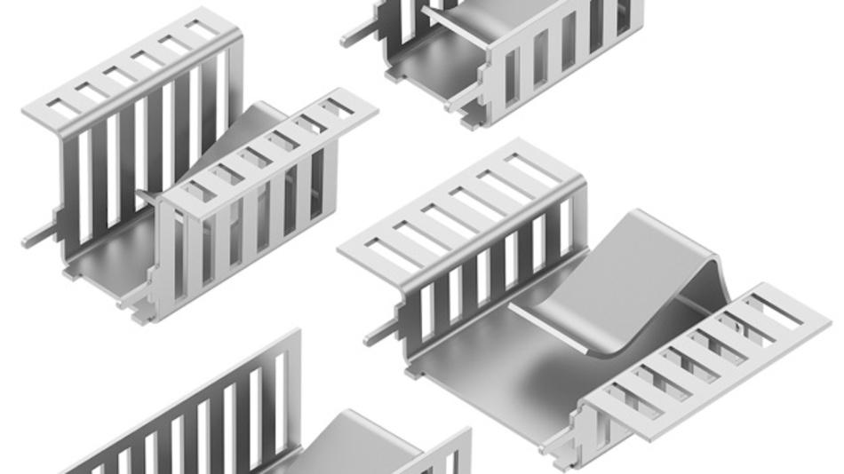Bild 2: Im Fingerkühlkörper integrierte Klammerbefestigungen gewährleisten eine schnelle und sichere Halbleitermontage mit festem Halt.