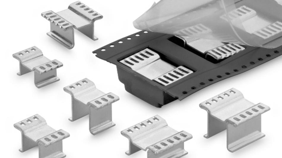 Bild 3: Spezielle Kühlkörpergeometrien aus Kupfer eignen sich besonders zur Entwärmung von modernen Transistorkonzeptionen wie z. B. D-PAK-Gehäusen.