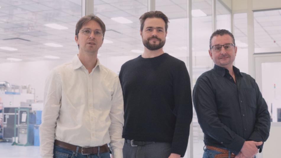 Dr. Soeren Steudel, Mitgründer und CTO; Dr. Alexander Mityashin, Mitgründer und COO; Sean Lord, CEO