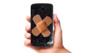 Handy mit kaputtem Display