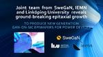SweGaN entdeckt neues Epitaxie-Verfahren für GaN auf SiC