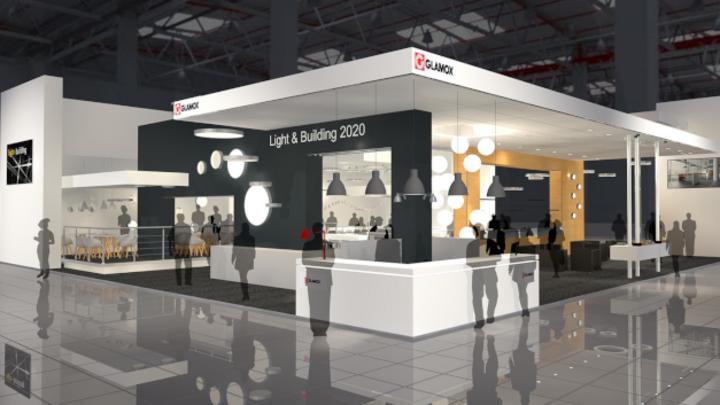 Der Glamox Messestand für die Light + Building 2020.