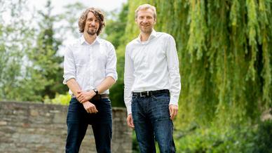 Das Start-up wurde wurde 2018 in Berlin von Dr. Jörg Döpfert (l.) und Dr. Andreas Lemke (r.) gegründet.