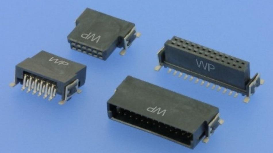 Kompakte Board-to-Board-Lösungen im Rastermaß 1,27 mm von W+P Products.