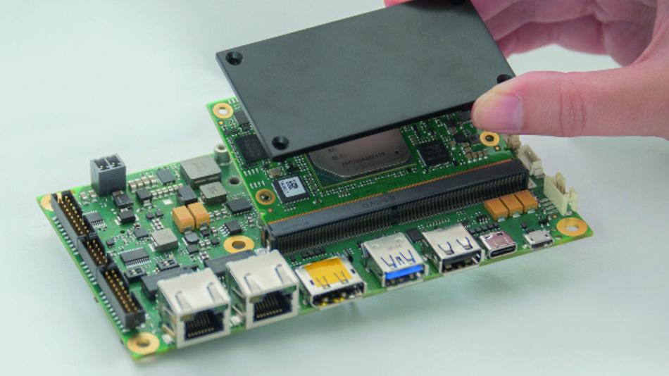 Bild 2: SMARC-2.0-Modul mit Standard-Heatspreader.