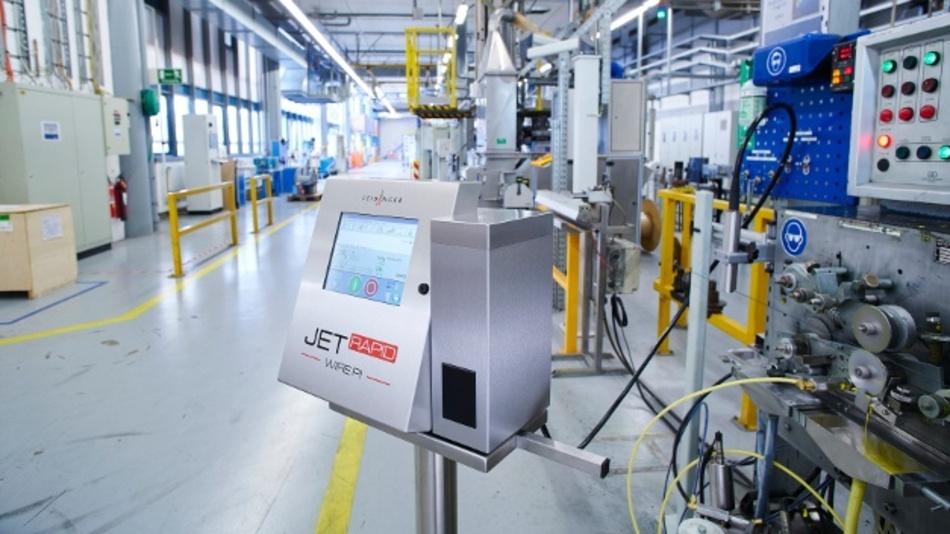 Der Jet Rapid Wire PI im Einsatz bei Kabelhersteller Huber+Suhner aus Pfäffikon in der Schweiz.