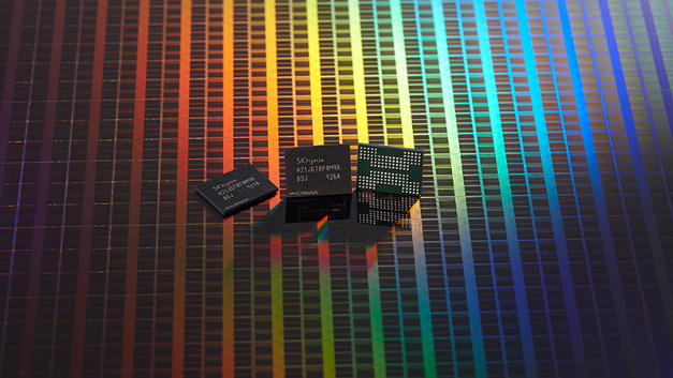 Der 1-Tb-NAND-Flash-Speicher mit 128 Layern von SK Hynix.