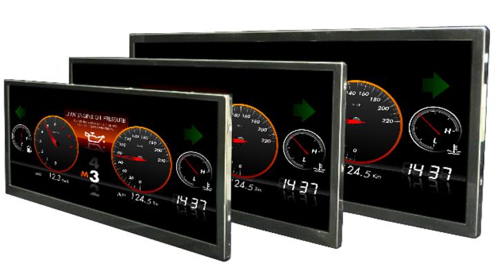 Mitsubishi zeigt LCDs mit HD-Auflösung und breitem Format für den Fahrzeuginnenraum. Integrierte Sicherheitsfunktionen zur Fehlererkennung und Design-Standard IATF16949 vereinfachen Entwicklern den Sicherheitsnachweis.