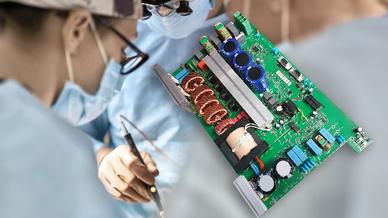 Netzteil der Serie SMM3000A80024C für lasermedizinsche Anwendungen