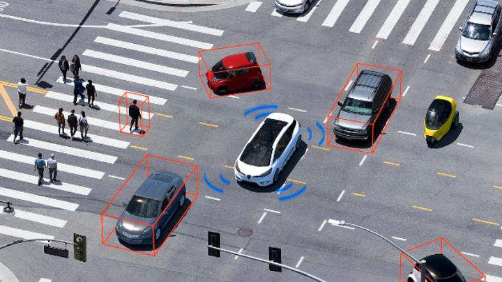LiDAR-Sensoren werden zur Objekterkennung auf Distanzen bis 300 Meter genutzt und auch auf kurze Reichweite zur Erkennung des direkten Umfelds.