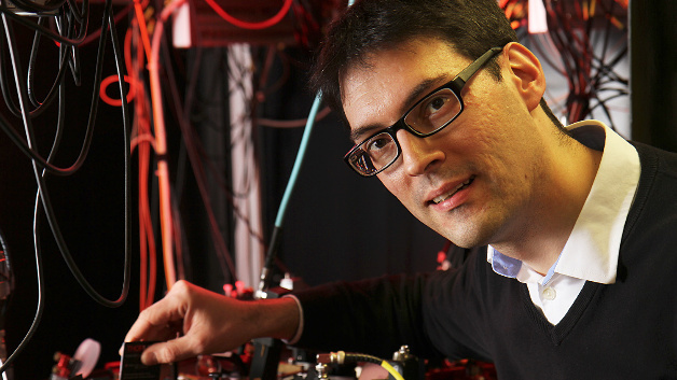 Prof. Artur Widera forscht an der TU Kaiserslautern an Quantensystemen. Die Anschrift seines Instituts: Erwin-Schrödinger-Straße.