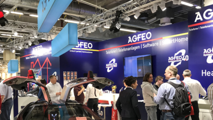 AGFEO Messestand Light + Building 2018