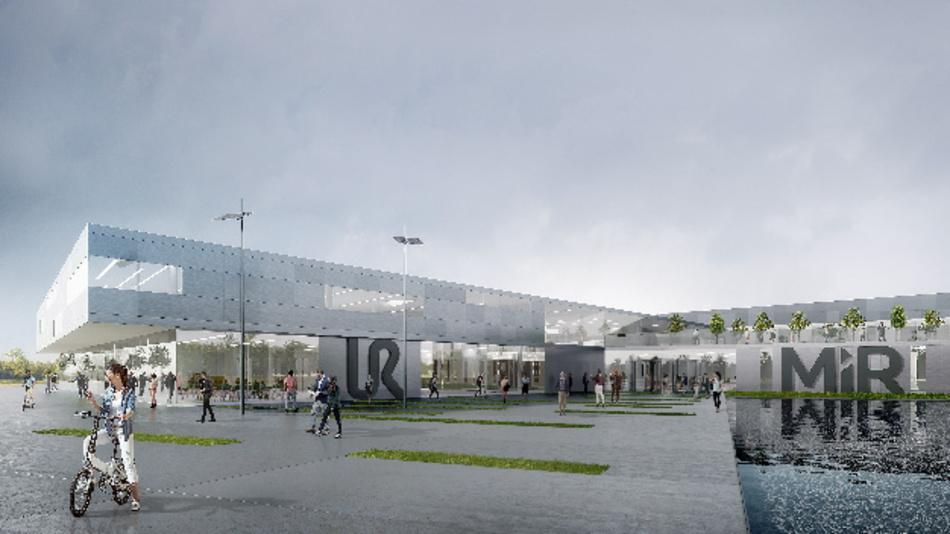 Die Vision des neuen Cobot-Zentrums in Odense. Das endgültige Design der Architektur steht noch nicht fest.