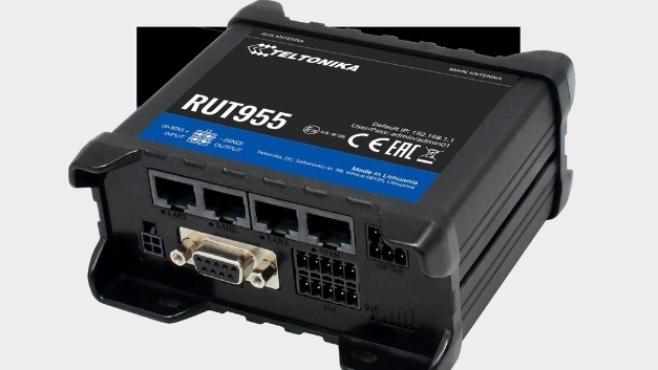 Der industrietaugliche Router RUT955 von Teltonica ergänzt Unitronics Sensor2Cloud-Portfolio