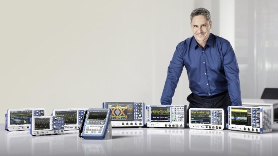 Rohde & Schwarz hat sich mit acht Gerätefamilien und Frequenzbereichen bis 16 GHz sowie Tastkopfoptionen und Software-Applikationen zum echten Vollsortimenter im Bereich Oszilloskope entwickelt.