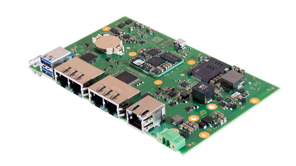 Bild2. Das Board MBLS1012AL ist mit einem LS1012A-Prozessor von NXP mit Cortex-A53-Architektur bestückt und für Daten-Logger, Gateways und Router ausgelegt.