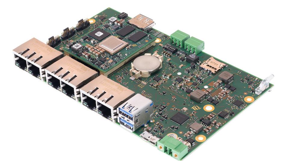 Bild3. Das Motherboard MBLS1028A-IND ist mit einem LS1028A-Prozessor von NXP mit Dual-Cortex-A72-Architektur ausgestattet und für den Einsatz in Gateways, Daten-Loggern und TSN-Routern vorgesehen.