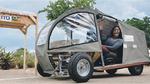 Mit dem Bamboo Solar Car auf Tour