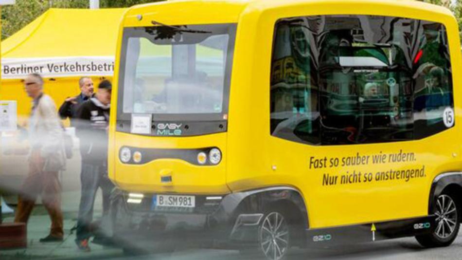 Drei autonome Busse der BVG werden kostenlos und mit bis zu 18 km/h durch Tegel fahren.