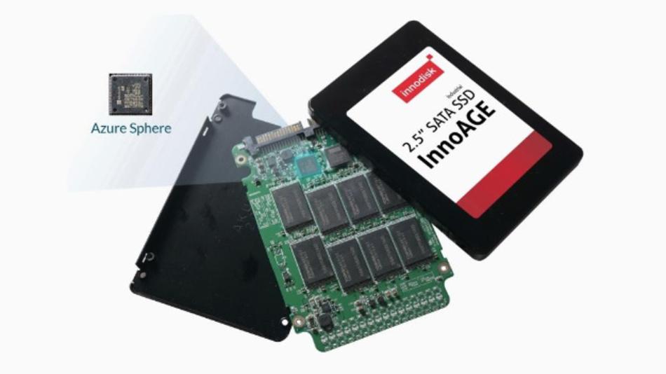 Innodisks InnoAGE SSD gewährt Azure-Sphere-Funktion und hohe Sicherheit für IoT-Anwendungen.