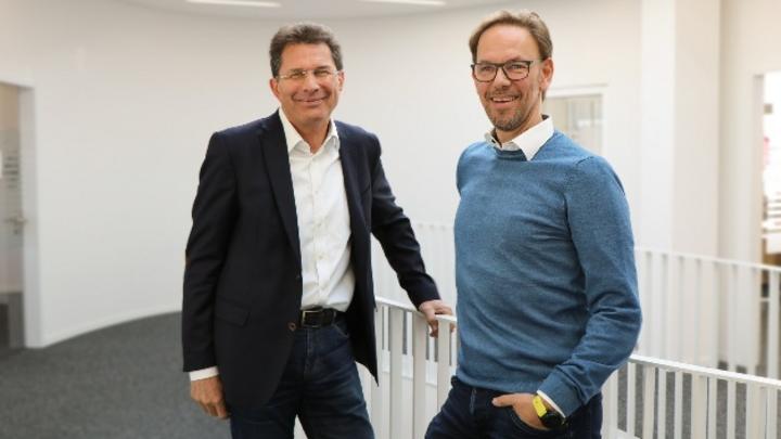 Der neue COO Roland Bucher (l.) wird gemeinsam mit CEO Frank Heidemann (r.) das Wachstum und die Internationalisierung des Unternehmens weiter vorantreiben.