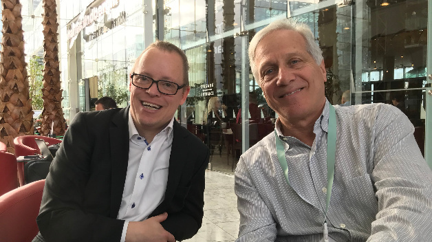 DESIGN&ELEKTRONIK editor Ralf Higgelke met Alex Lidow, CEO of GaN pioneer Efficient Power Conversion (EPC), in Munich in December 2019.