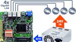 Power+Board-Bundle für IPCs in der Bildverarbeitung
