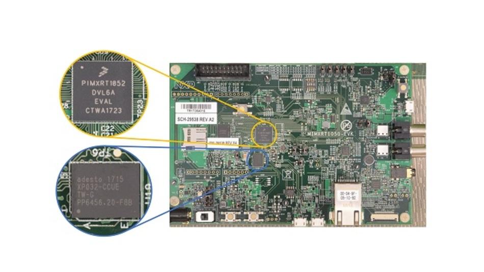 Bild 1: i.MX RT1050 Evaluation Kit von NXP auf EcoXiP-Basis.