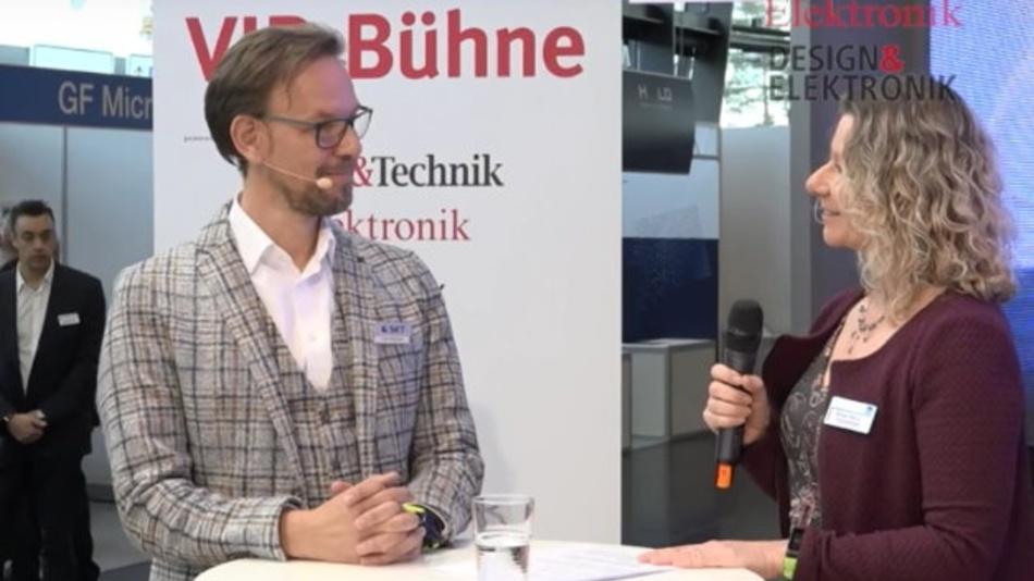 Frank Heidemann, SET, im Live-Interview mit Markt&Technik-Redakteurin Nicole Wörner.