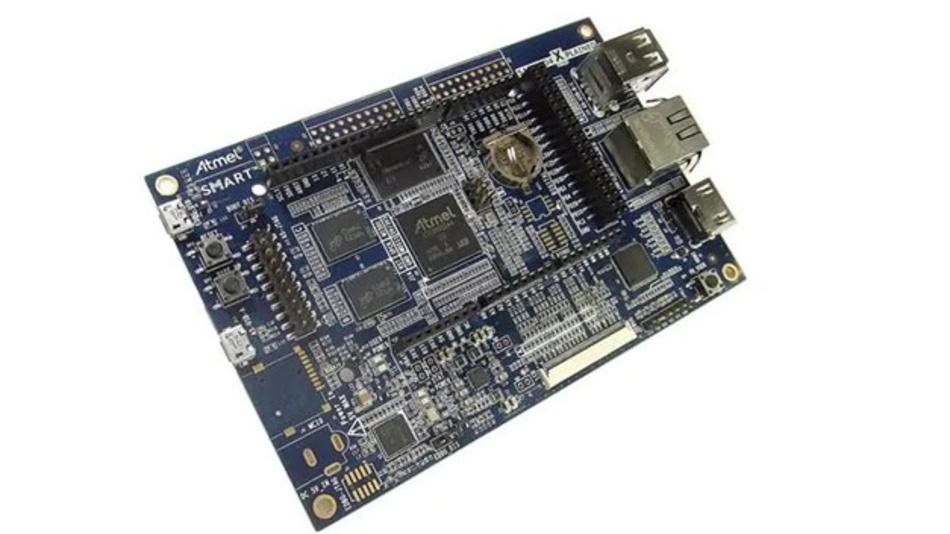 Microchip SAMA5D4 Xplained Ultra Evaluierungsboard.