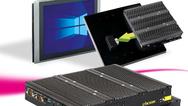 Das lüfterlose PC-Modul P2102 lässt sich problemlos zu einem Panel-PC erweitern.