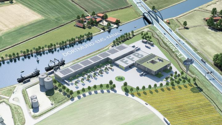 Plan für die »Fraunhofer Forschungsfertigung Batteriezelle« in Münster