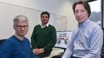Die Forscher hinter ChainifyDB (v.l.n.r.): Prof. Dr. Jens Dittrich, Ankur Sharma und Dr. Felix Martin Schuhknecht von der Universität des Saarlandes.