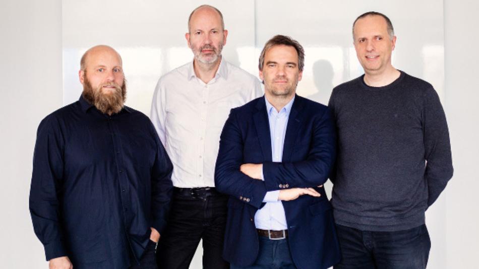 Das Team von Ubirch: Michael Merz, CISO, Markus Breuer, CDO, Stephan Noller, CEO, und Matthias L. Jugel, CTO. /v.l.n.r.)
