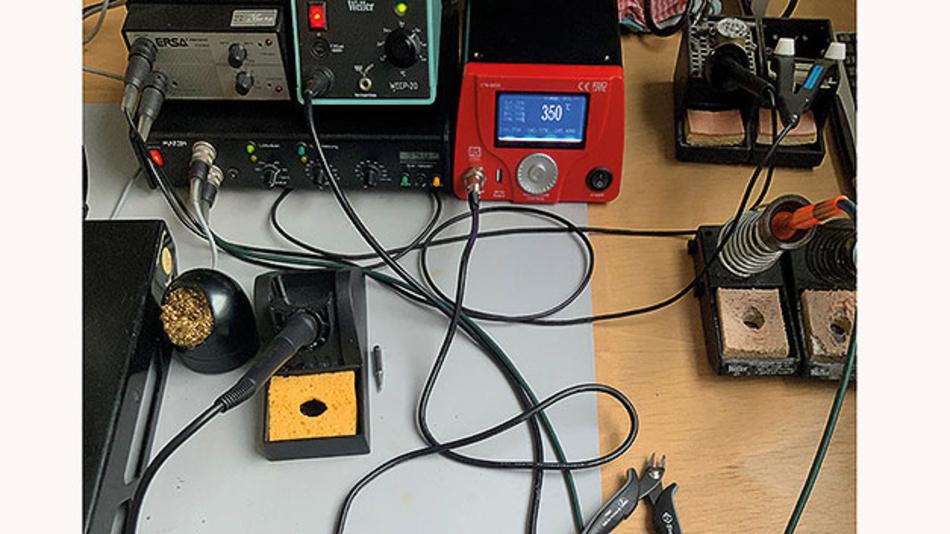 Bild 4. Funktionstest der RS Lötstation mit einer Löttemperatur von 350°C.