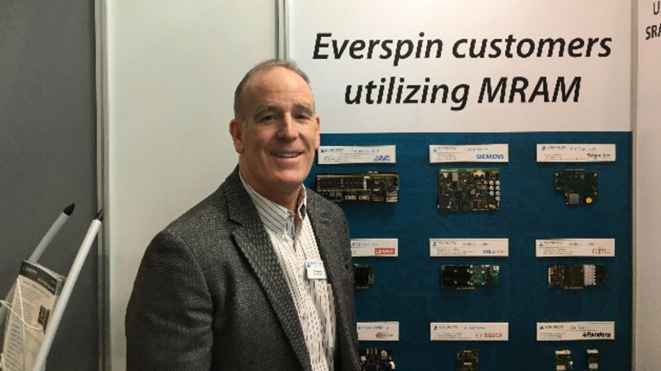 Troy Winslow, Vice President of Sales and Marketing von Everspin: »Mit der Skalierung der MRAMs auf die 12-nm-FinFET-Plattform verstärken wir nicht nur unsere Technologieführerschaft, sondern gehen mit den STT-MRAMs den nächsten Schritt in die Zukunft der Speichertechnik.«