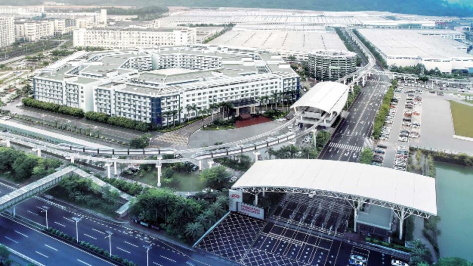 Der Hauptsitz von BYD in Shenzhen.