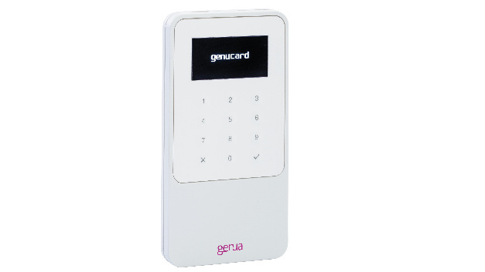 Genucard 3: Gerät für die VS-NfD-Kommunikation (Verschlusssache – nur für den Dienstgebrauch) im  Handy-Format.