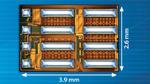 Monolithische GaN-Halbbrücke mit Treiber für 80 V/12,5 A