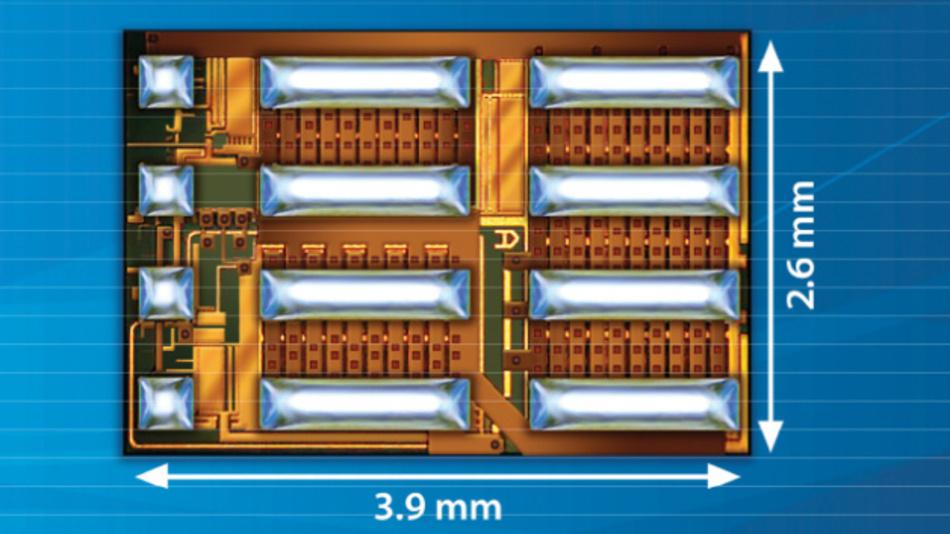 Eine komplette GaN-Halbbrücke für 80 V/12,5 A mit Treiber und Logik sind im EPC2152 von Efficient Power Conversion (EPC) monolithisch integriert.