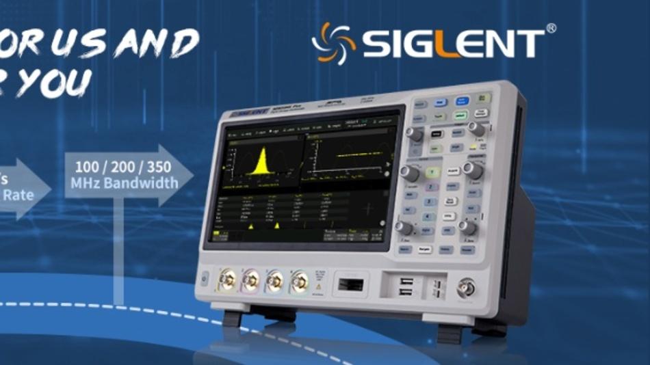 Auf Basis von Kundenfeedback optimiert: die neue SDS2000X-Plus-Oszilloskop-Serie von Siglent.