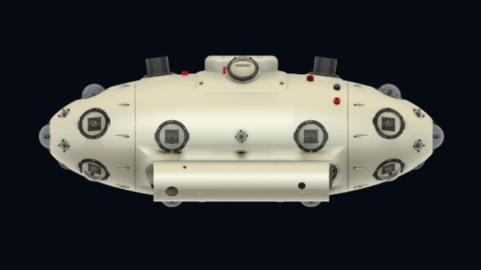 Die neuste Version der unbemannten U-Boote, das »UAM V4«, ist 108 cm x 36 cm x 36 cm groß und wird gerade erprobt. Diese autonom fahrenden Sonden sollen künftig in Schwärmen die Meere kartographieren.