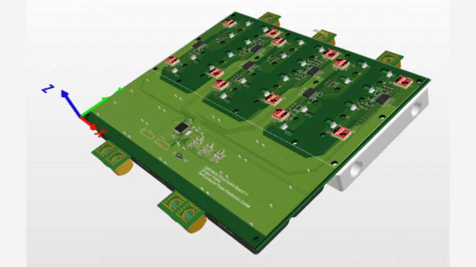 Dieser 100-kW-Traktionsumrichter basiert auf der GaN-Technologie von VisIC Technologies und wurde von der University of Texas in Austin umgesetzt.