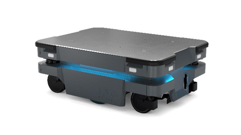 Auch in engen Räumen navigierfähig: der autonome Transportroboter MiR250.